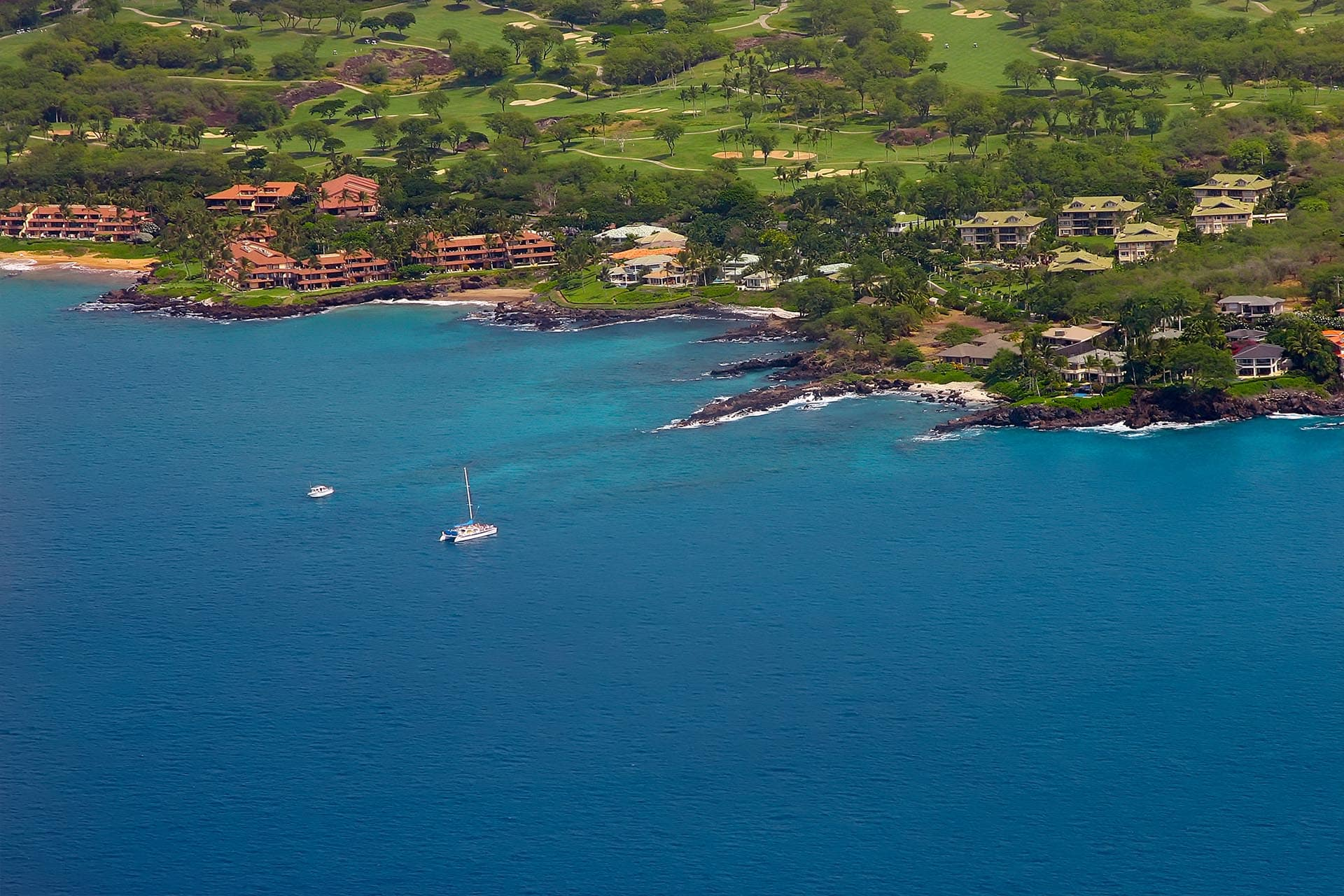 Makena Surf E206 Aerial View