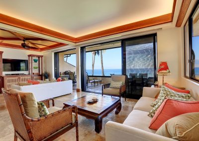 Makena Surf Living Room Ocean View